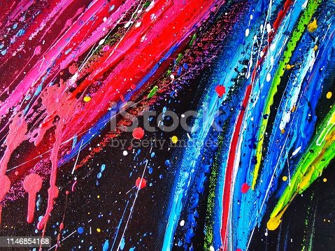 504223972 istock photo Colorful abstract art oil paint acrylic color on canvas for background. 1146854168