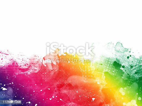 istock Colorful Abstract Artistic Watercolor Paint Background 1129931058