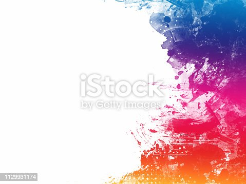 1155673825 istock photo Colorful Abstract Artistic Watercolor Paint Background 1129931174
