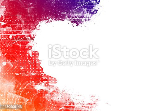 istock Colorful Abstract Artistic Watercolor Paint Background 1130909143