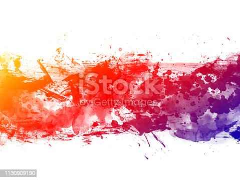 istock Colorful Abstract Artistic Watercolor Paint Background 1130909190