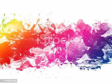 istock Colorful Abstract Artistic Watercolor Paint Background 1134603463