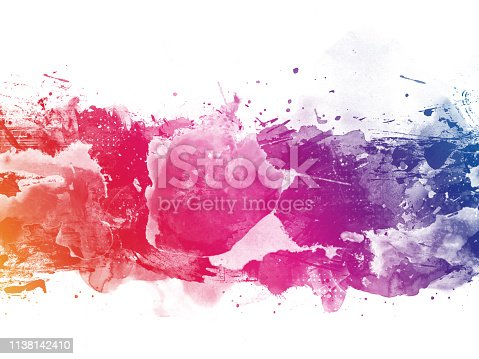 istock Colorful Abstract Artistic Watercolor Paint Background 1138142410