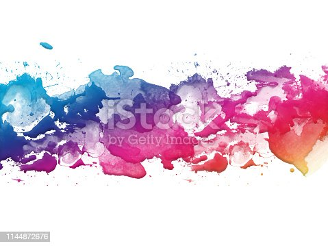 172646637 istock photo Colorful Abstract Artistic Watercolor Paint Background 1144872676