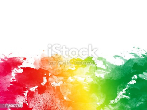 istock Colorful Abstract Artistic Watercolor Paint Background 1148997763
