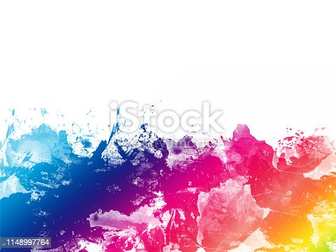 istock Colorful Abstract Artistic Watercolor Paint Background 1148997764