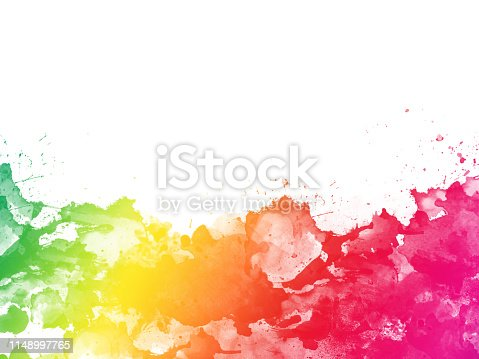istock Colorful Abstract Artistic Watercolor Paint Background 1148997765