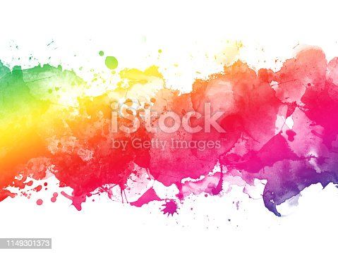 istock Colorful Abstract Artistic Watercolor Paint Background 1149301373