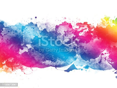 istock Colorful Abstract Artistic Watercolor Paint Background 1155673561