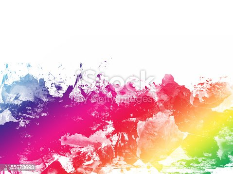 istock Colorful Abstract Artistic Watercolor Paint Background 1155673693