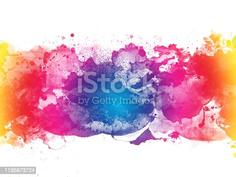 istock Colorful Abstract Artistic Watercolor Paint Background 1155673724