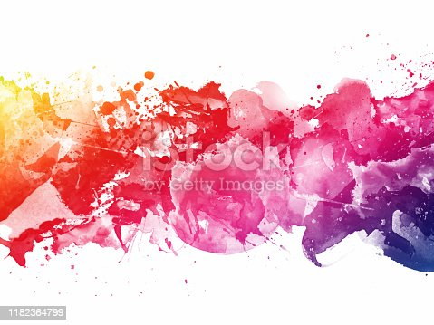 1155673825 istock photo Colorful Abstract Artistic Watercolor Paint Background 1182364799