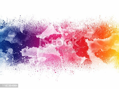 1155673825 istock photo Colorful Abstract Artistic Watercolor Paint Background 1182364984