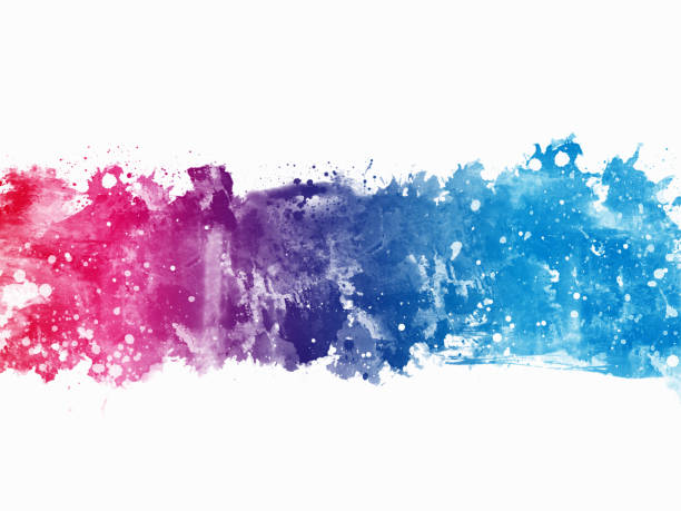 colorful abstract artistic watercolor paint background - purple watercolor stock photos and pictures