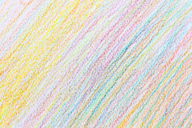 bunte abstrakte hintergrund bleistift buntstifte von doodle hand schreiben - scribble stock-fotos und bilder