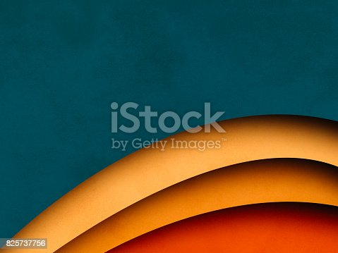 istock Colorful Abstract Background, paper cutting style 825737756