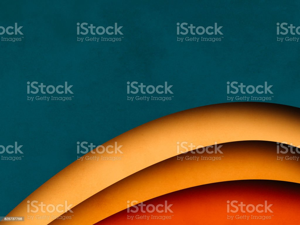 Colorful Abstract Background, paper cutting style stock photo