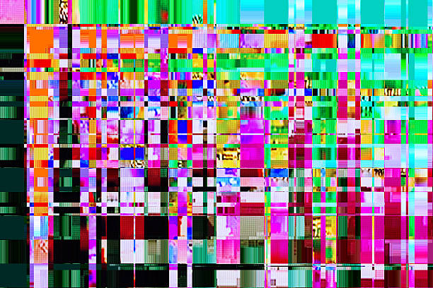 colorful abstract background texture colorful abstract background texture. glitches, distortion on the screen broadcast digital TV satellite channels inconvenience stock pictures, royalty-free photos & images