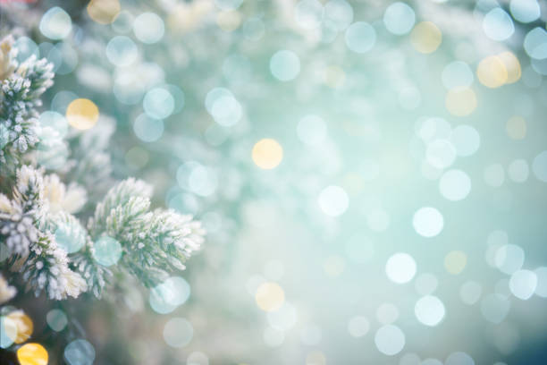 colorido fondo abstracto con luz bokeh - invierno fotografías e imágenes de stock