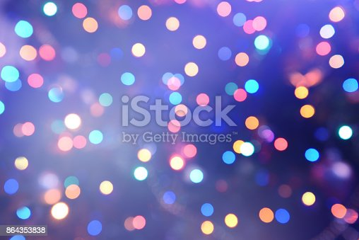 istock Colorful abstract background with bokeh light 864353838