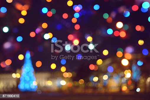 istock Colorful abstract background with bokeh light 871990410