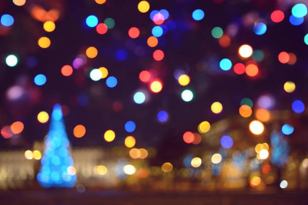 colorful abstract background with bokeh light - christmas lights imagens e fotografias de stock