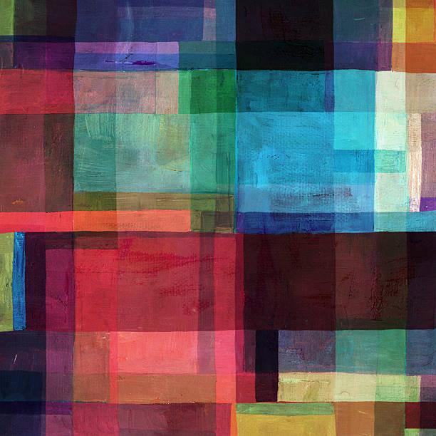 Colorido abstracto cuadra de la composición - foto de stock