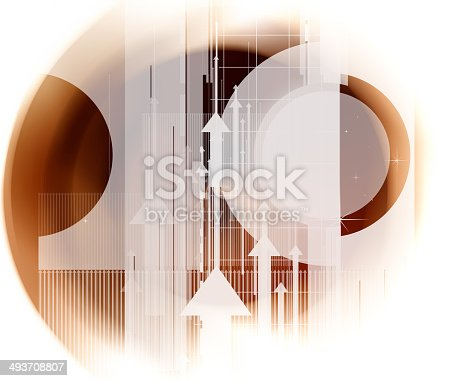838721578 istock photo Colorful abstract design with different shapes 493708807