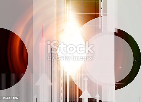 838721578 istock photo Colorful abstract design with different shapes 494092087