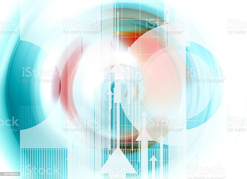 Colorful abstract design with different shapes stock photo