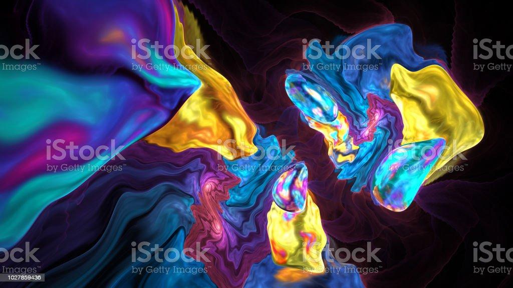 Bunte abstrakte Fraktal-Abbildung – Foto