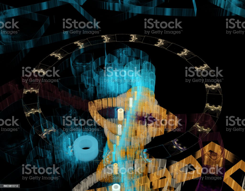 Colorful abstract fractal illustration foto stock royalty-free