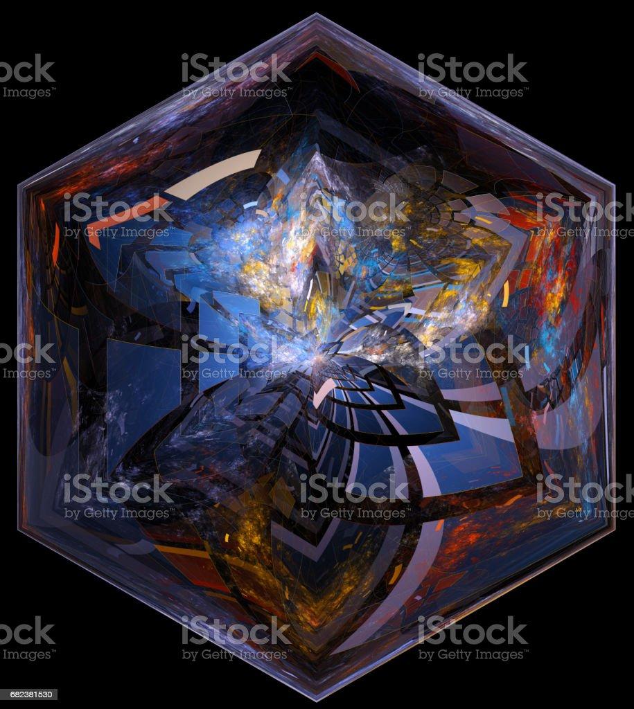 Colorful abstract fractal illustration ロイヤリティフリーストックフォト