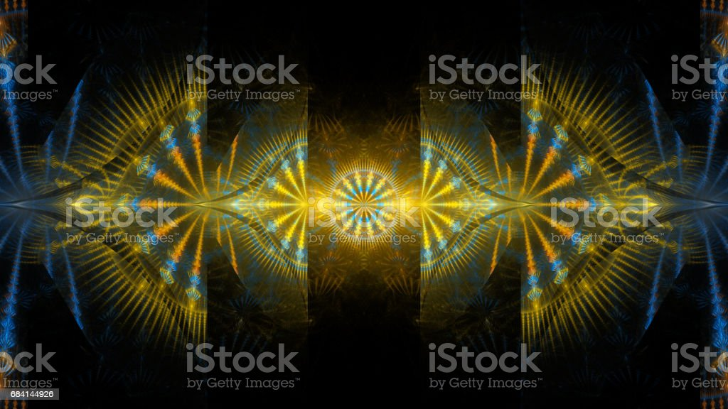 Colorful abstract fractal illustration royaltyfri bildbanksbilder