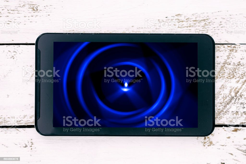 colorful abstract image on a smartphone screen Lizenzfreies stock-foto
