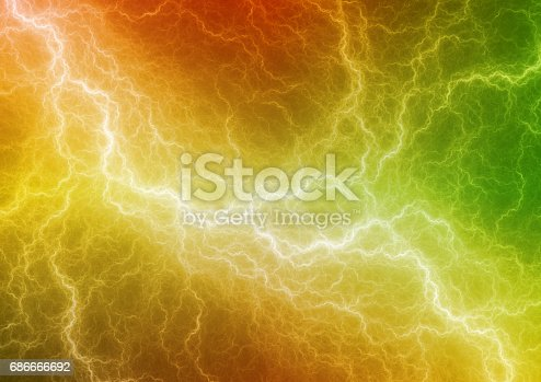 istock Colorful abstract lightning, electrical background 686666692
