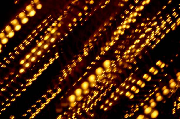 lumières abstraites colorées de lumières de pluie - éther photos et images de collection