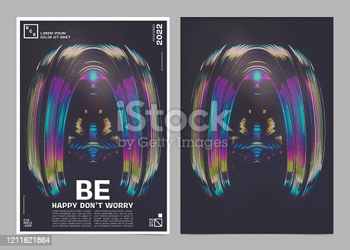 istock Colorful Abstract Modern Futuristic Background Poster Template. 1211621864