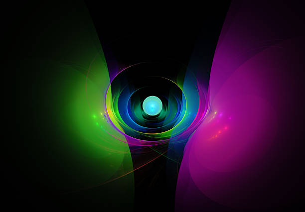 Colorful abstract on black background stock photo