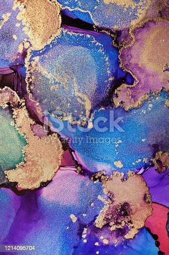 1217742482 istock photo Colorful abstract painting background. Highly-textured oil paint. High quality details. Alcohol ink modern abstract painting, modern contemporary art. 1214095704