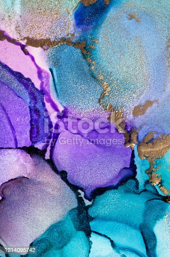 1217742482 istock photo Colorful abstract painting background. Highly-textured oil paint. High quality details. Alcohol ink modern abstract painting, modern contemporary art. 1214095742
