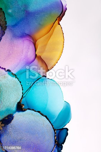 1217742482 istock photo Colorful abstract painting background. Highly-textured oil paint. High quality details. Alcohol ink modern abstract painting, modern contemporary art. 1214095764