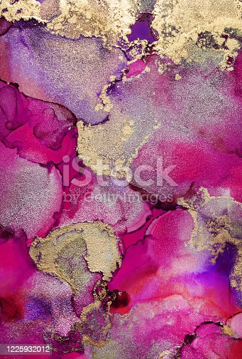 1217742482 istock photo Colorful abstract painting background. Highly-textured oil paint. High quality details. Alcohol ink modern abstract painting, modern contemporary art. 1225932012