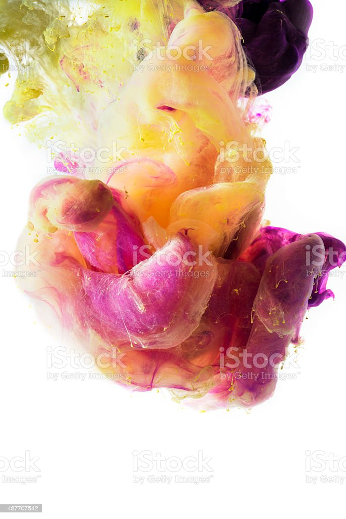 Colorful abstract painting underwater stock photo