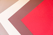 Multi color papers geometry flat abstract composition background. Easy to crop for all print and social media sizes with copy space.