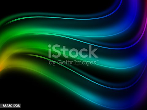 525031832 istock photo Colorful abstract smoke isolated on a black background 865301206