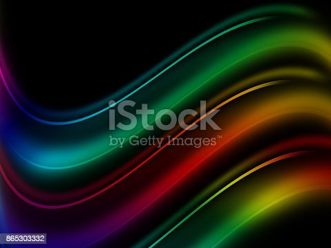 525031832 istock photo Colorful abstract smoke isolated on a black background 865303332