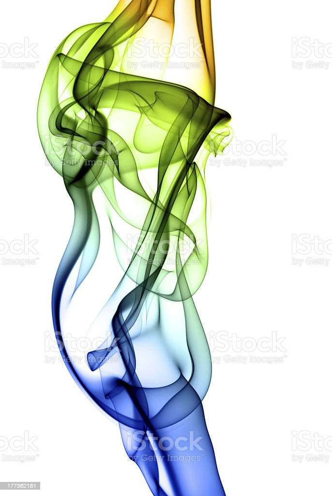 colorful abstract smoke isolated on background stock photo