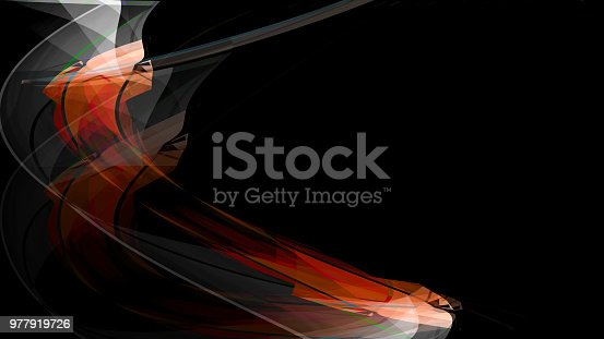 525031832 istock photo Colorful abstract smoke on black background 977919726