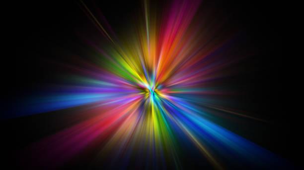 Bunte abstrakte Star Burst Lichtexplosion Hintergrund – Foto